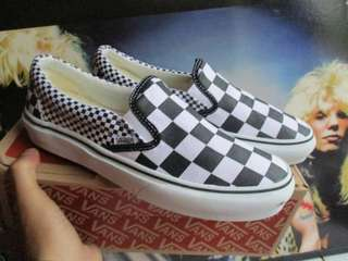 Vans slip on mix checkerboard