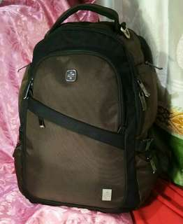 Swissgear light gold shaded brown backpack