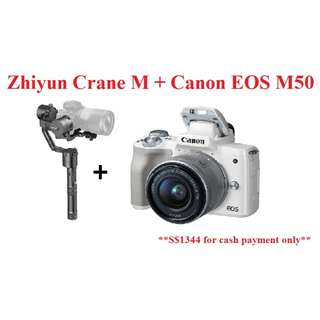 CANON EOS M50 + ZHIYUN CRANE M