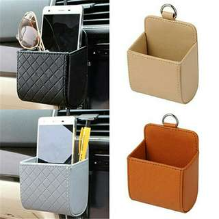 Leather Car Mobile Box/ Storage Case Organizer