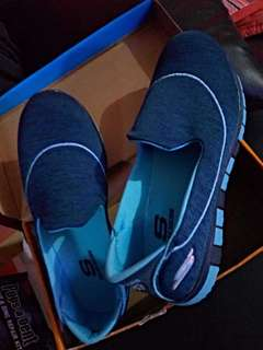 Blue sketchers rubber/walking shoes