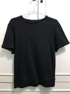 Zara black knitted tshir
