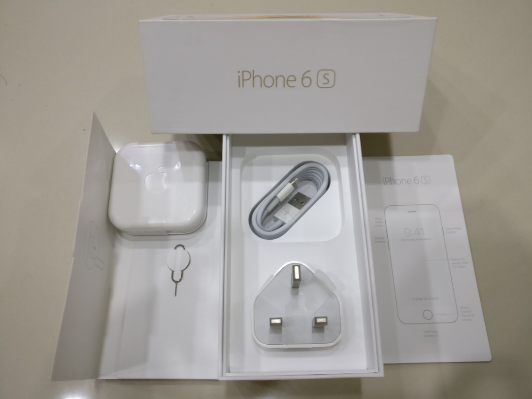 (NEW)IPHONE 6S BOX & ALL ACCESSORIES INCLUDED