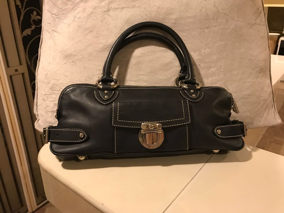 aa5e59838bf 💯% Authentic Marc Jacobs Calf Leather Blake Bullet Satchel, Luxury ...