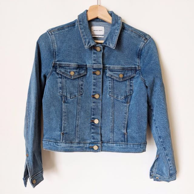 A Brand Cropped Denim Jacket