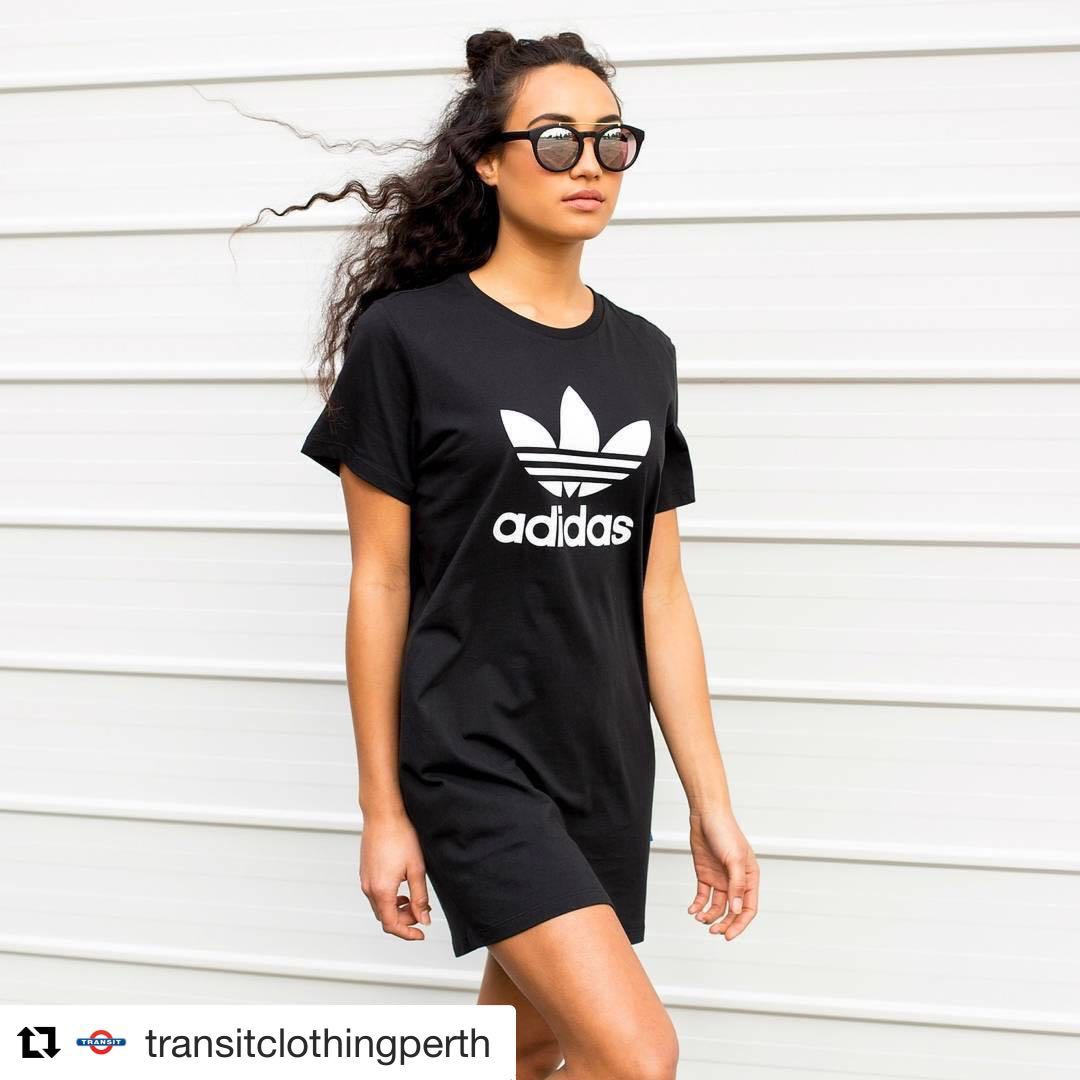 92c5cad2e3c Adidas Originals ‼️On hand‼ T-Shirt Dress With Trefoil Logo, Women's  Fashion, Clothes, Tops on Carousell