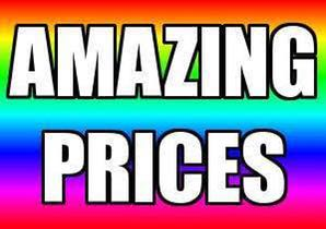 Amazing prices