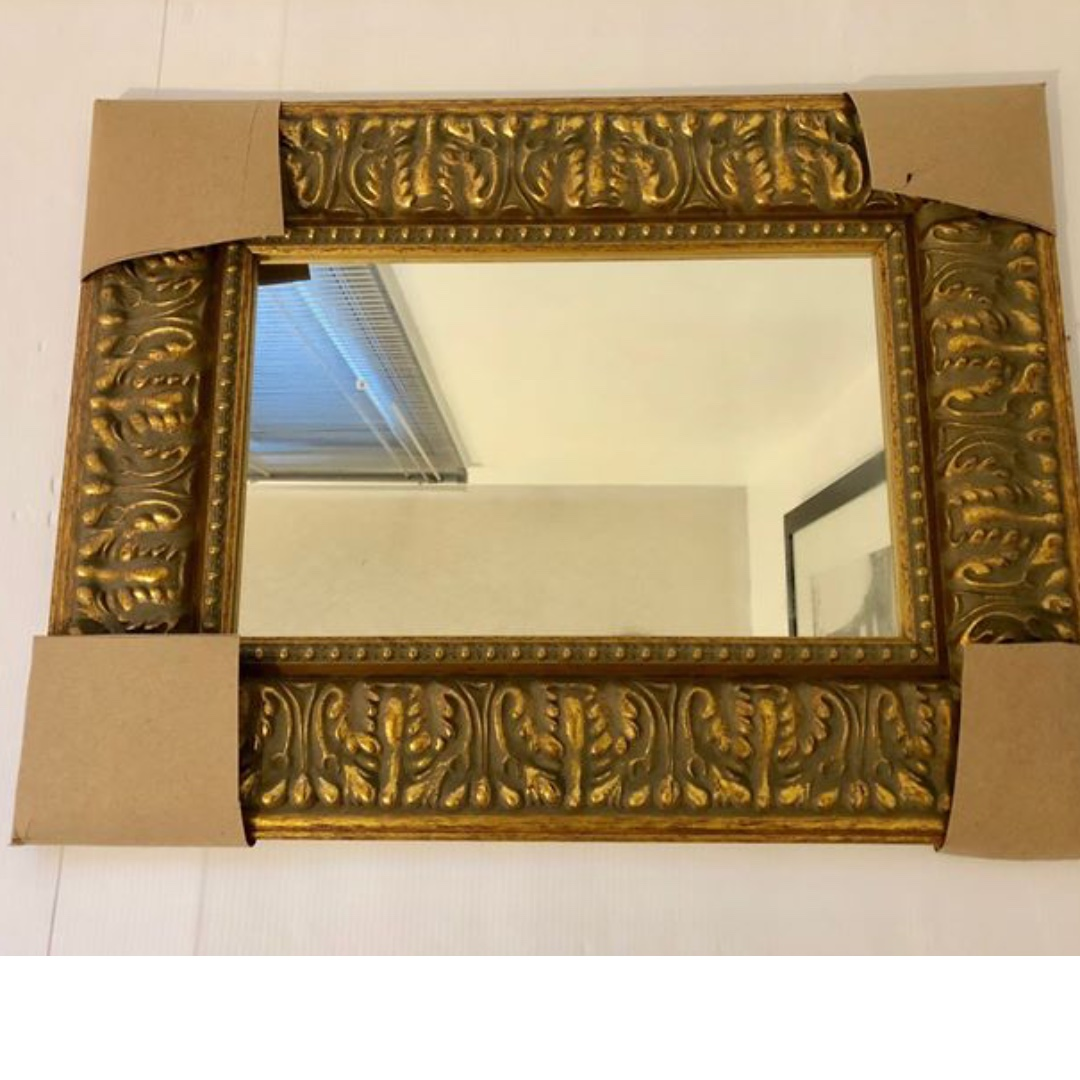 Antique Gold Wood Framed Mirror