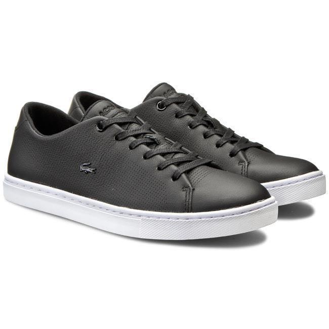 ccb6aa502 Authentic Lacoste women s showcourt lace up sneaker shoes black ...