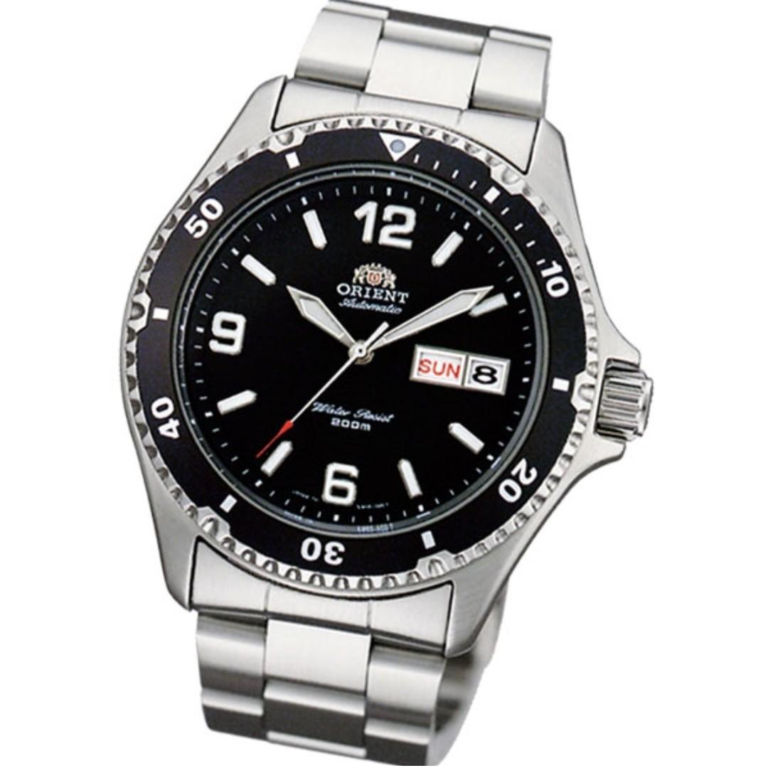Brand new Orient Mako 2 Diver FAA02001B FAA02001 Black 200m Bracelet