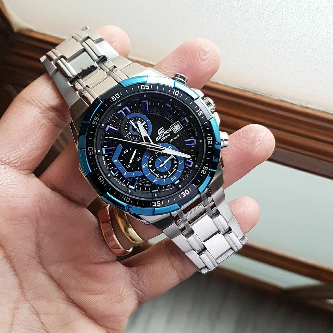Casio Edifice EF 539 Stainless Steel Silver 97db96ab1e