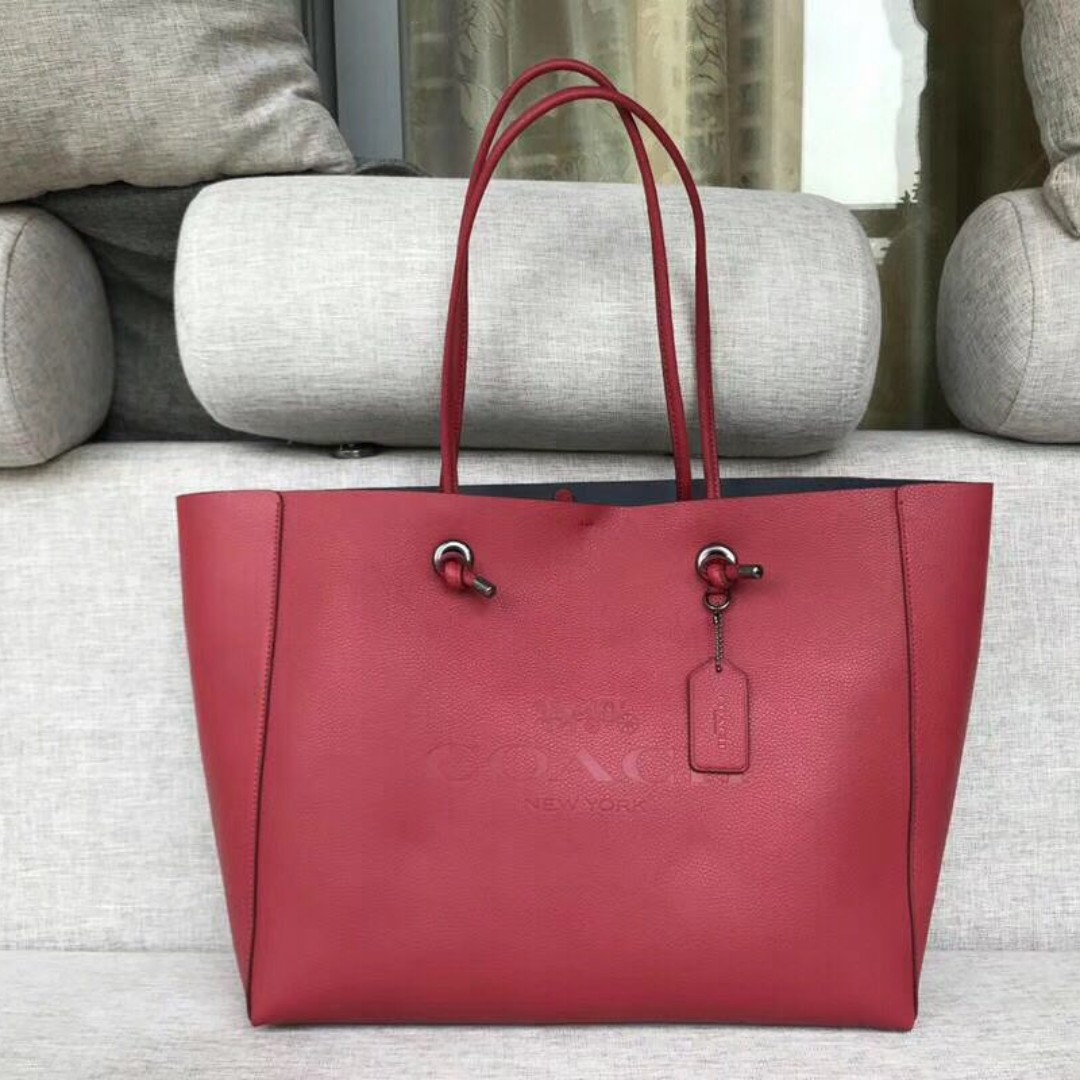 Coach Leather Large Red Shopping bag Tote a8cd554a323b4