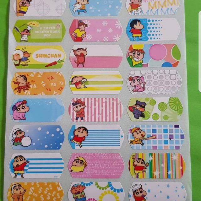 Crayon Shinchan waterproof name labels, Home Services