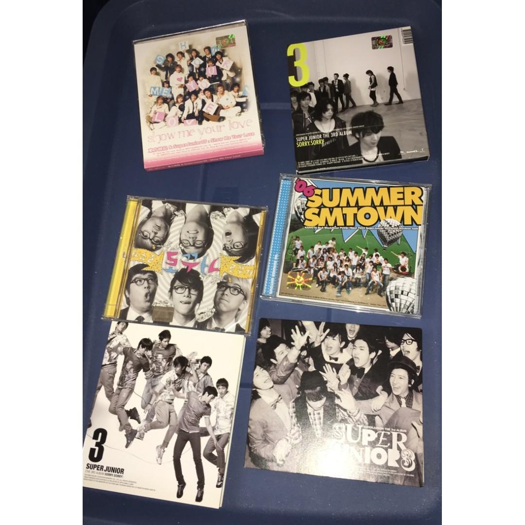 DBSK/TVXQ/SJ/DBSJ/Super Junior - CDs