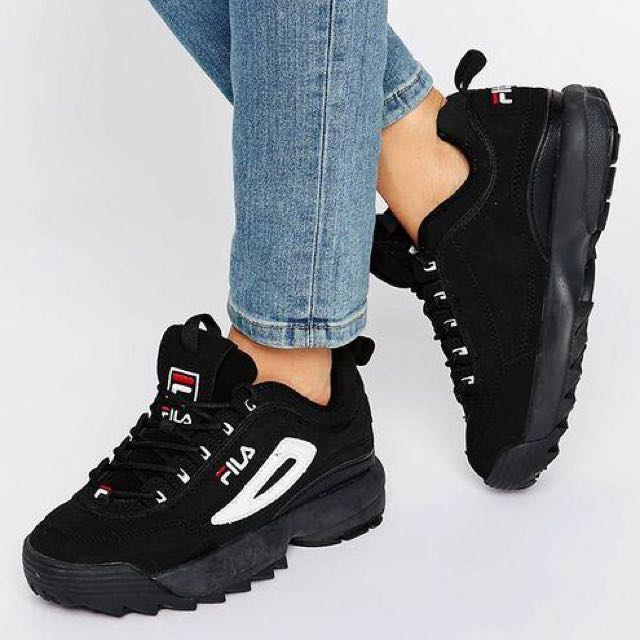 top-rated official good out x real quality Fila Disruptor II Black