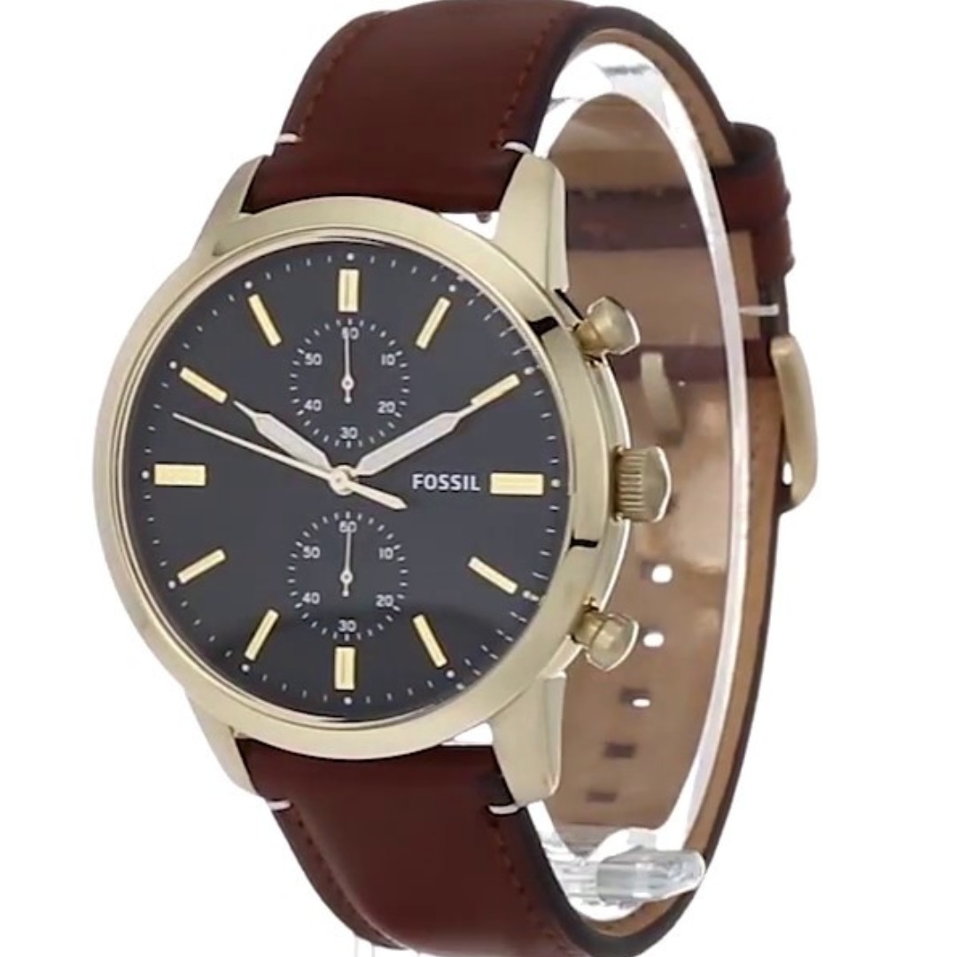 239f0a4a3 Fossil Townsman 44mm Chronograph Leather Watch (Light Brown), Men's ...