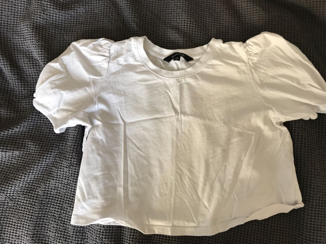 Glassons white crop top size XS
