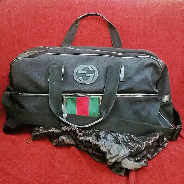1ddc92276ca Gucci Techno Black Canvas Duffle Holdall Bag