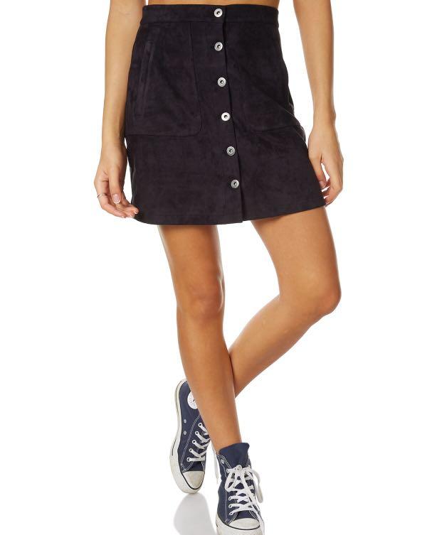 Hidden Way Suede Skirt | Size 6
