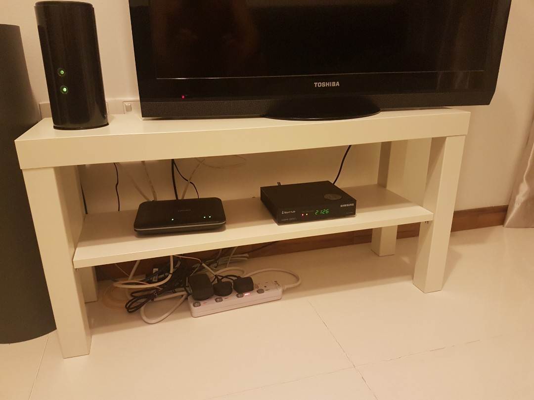 "IKEA ""LACK"" TV Stand / Bench - white, Furniture, Tables & Chairs on  Carousell"