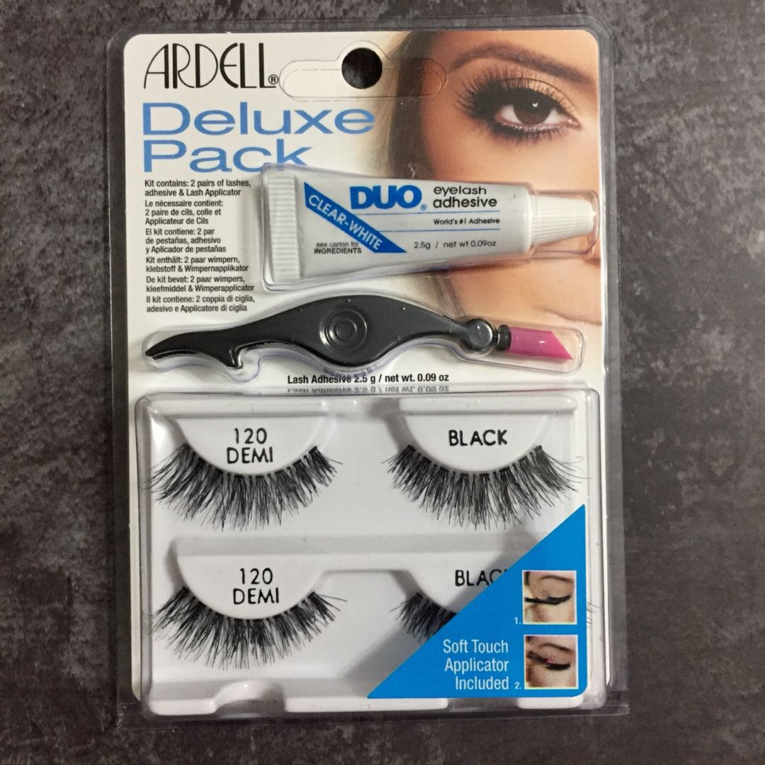 25c68581655 INSTOCK AND AUTHENTIC ARDELL DELUXE DEMI WISPIES 120 + DUO ADHESIVE + LASH  APPLICATOR, Health & Beauty, Makeup on Carousell