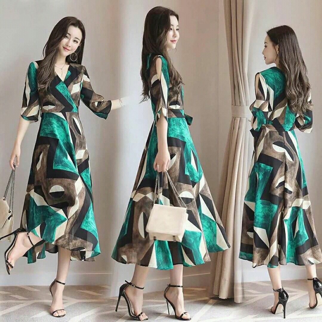 Korean Dress With Ribbon Womens Fashion Clothes Dresses Skirts On Carousell