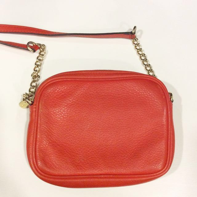 36b357d1d46e Michael Kors Coral Sling bag, Luxury, Bags & Wallets on Carousell