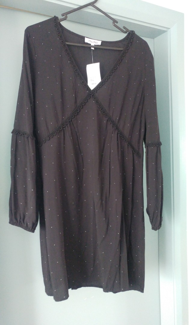 Miss Shop black polka dot dress