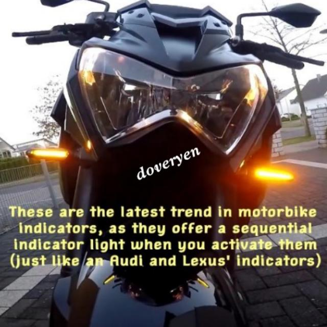 Motorcycle sequential led signal indicator audi design demo photo photo publicscrutiny Images