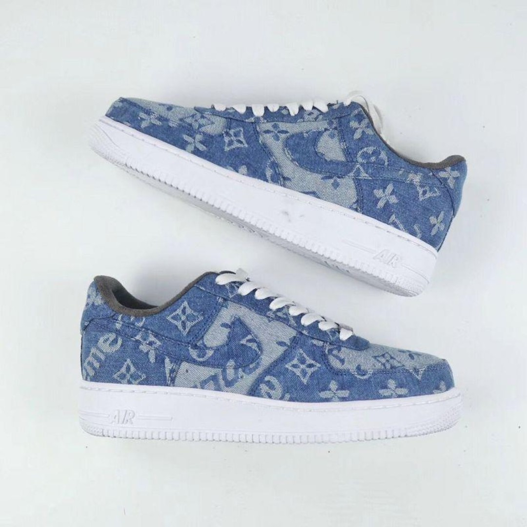 fe11a08f17ce Nike Air Force 1 Supreme x LV Denim Custom
