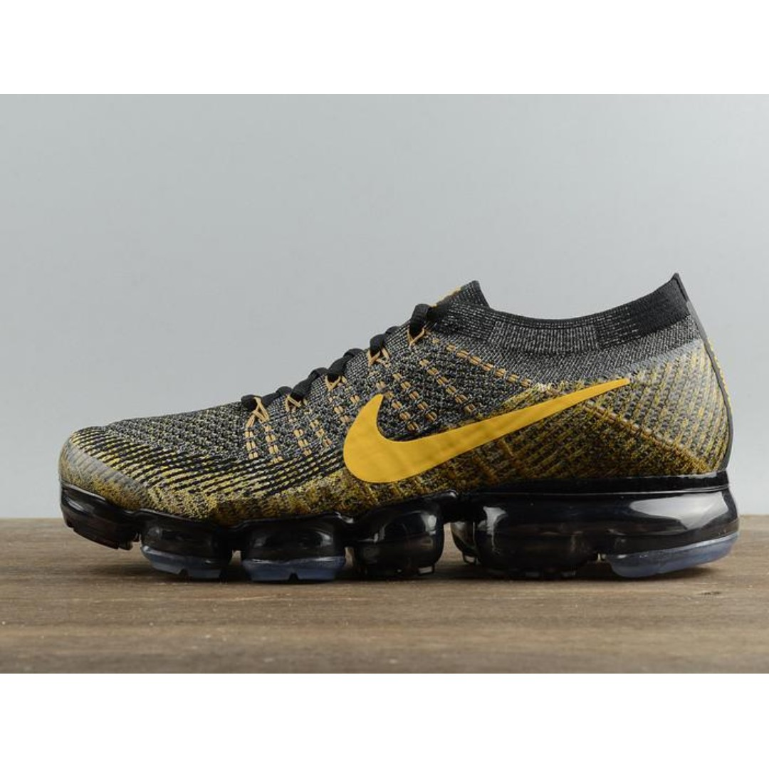 innovative design df5f3 90eb5 Nike Air Vapormax Flyknit Utilty Black Gold, Men s Fashion, Footwear ...