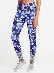 Old navy floral active tights w/ matching sports bra complete set