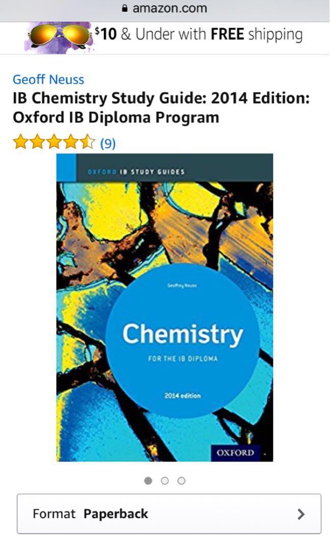 oxford ib study guide chemistry for the ib diploma 2014 edition rh sg carousell com ib chemistry study guide geoffrey neuss pdf IB Program