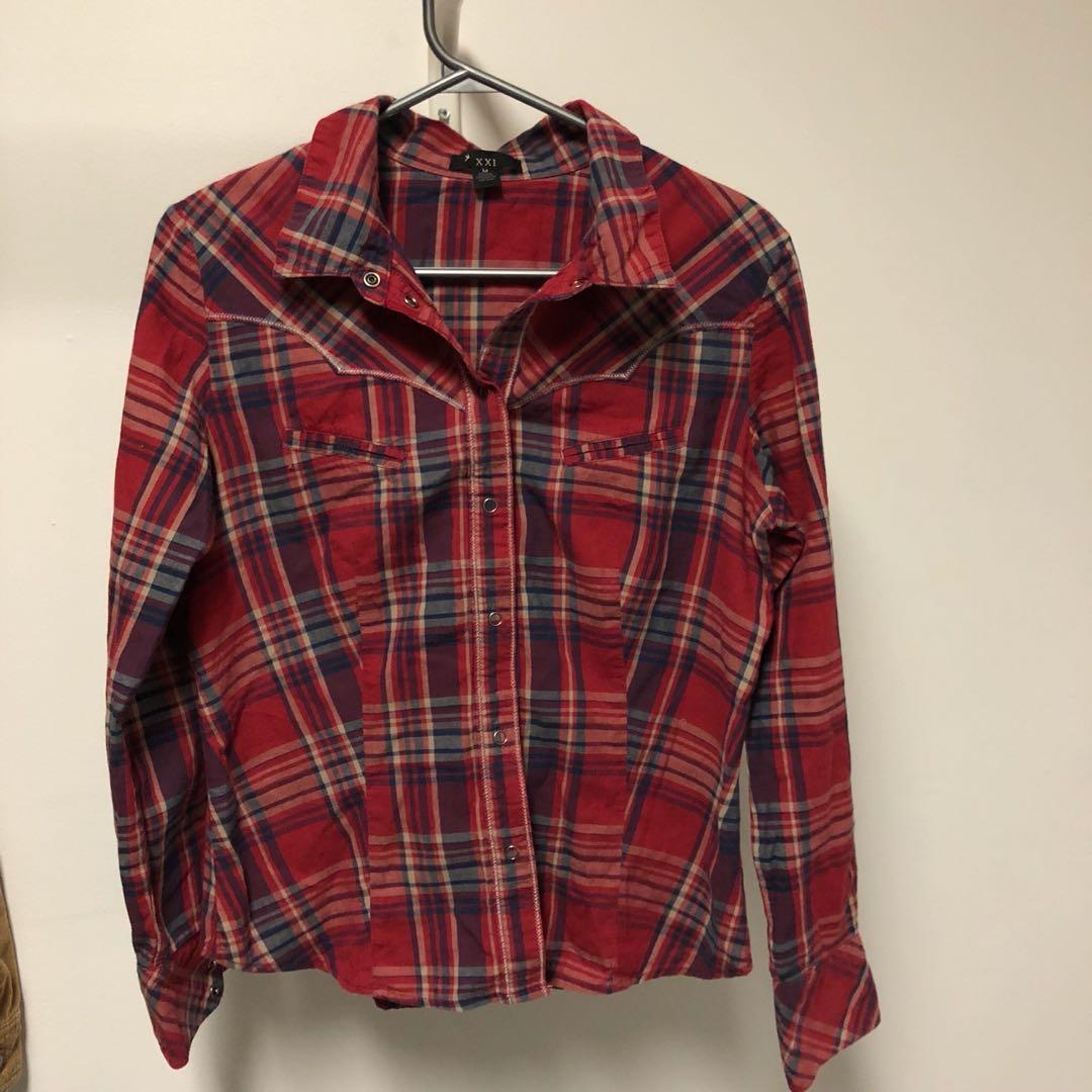 Plaid Shirt Size M
