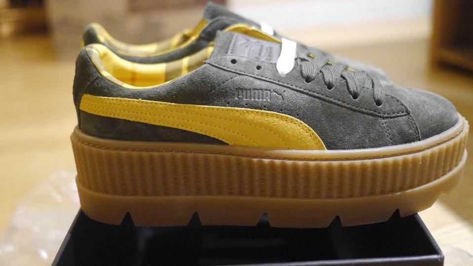 puma Rihanna合作款厚底恨天高鞋37.5