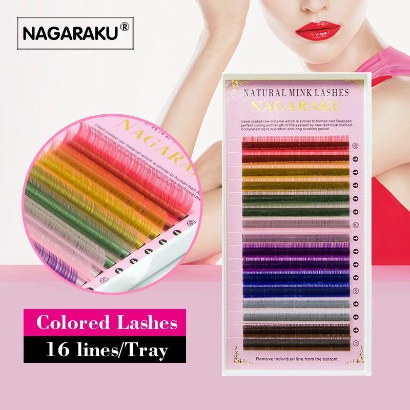 b8d2248bcd4 Rainbow mink lash for eyelash extension 0.12c - 11mm, Health ...