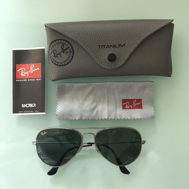 70f9de3b46964 ... promo code for rayban aviator titanium mens fashion accessories eyewear  sunglasses on carousell 3d9ad 0bf4e