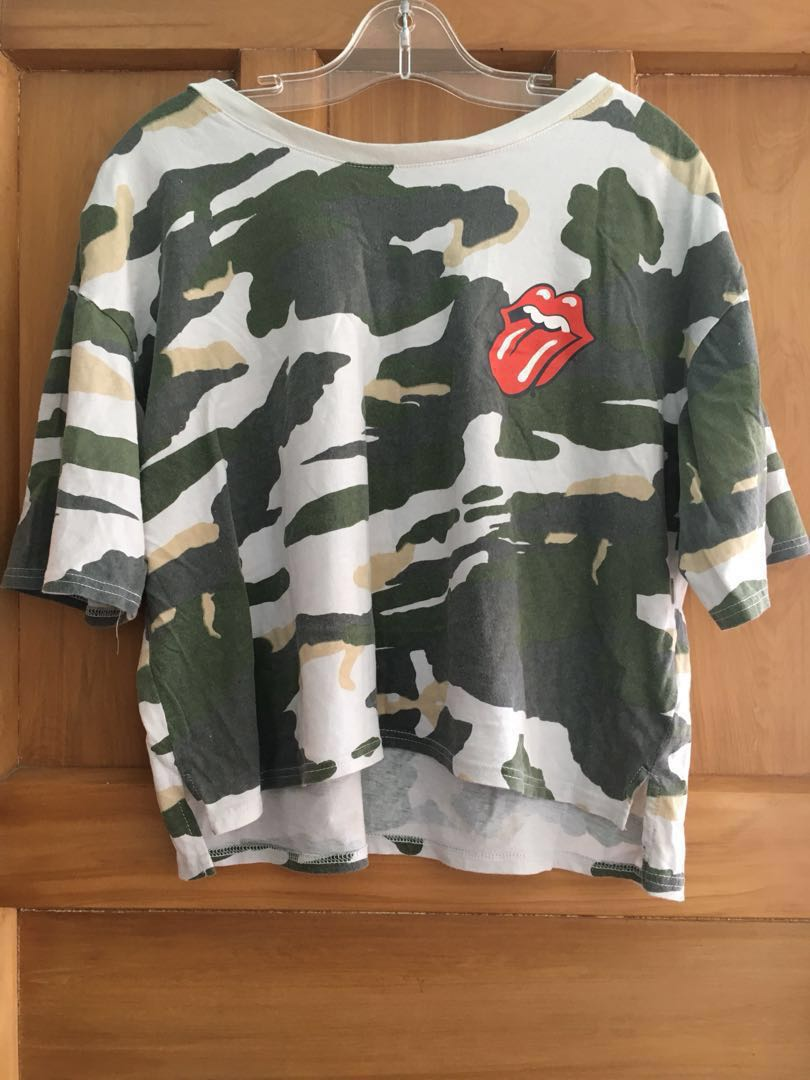 Rolling Stones Camo Top