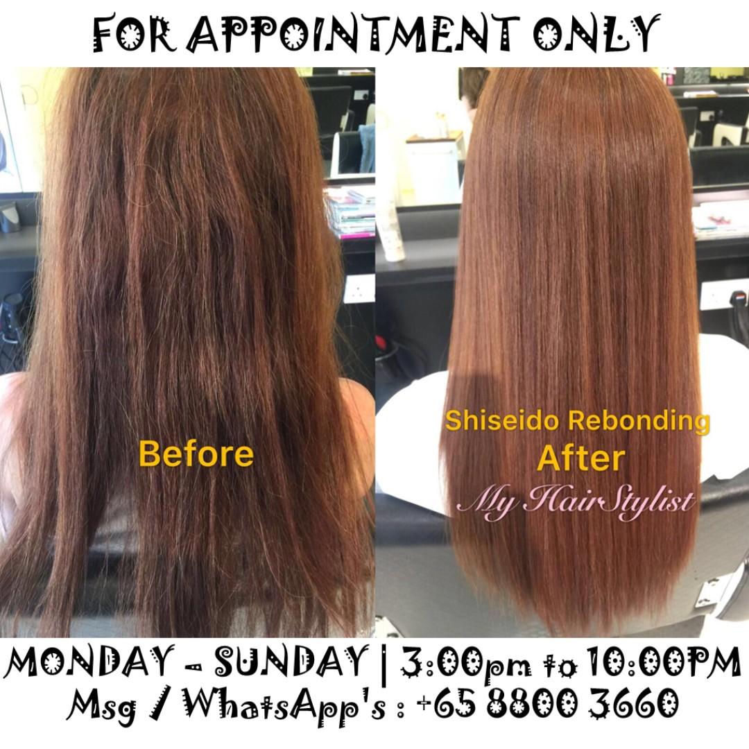 Shiseido Rebonding Free Hair Cut Lifestyle Services Beauty