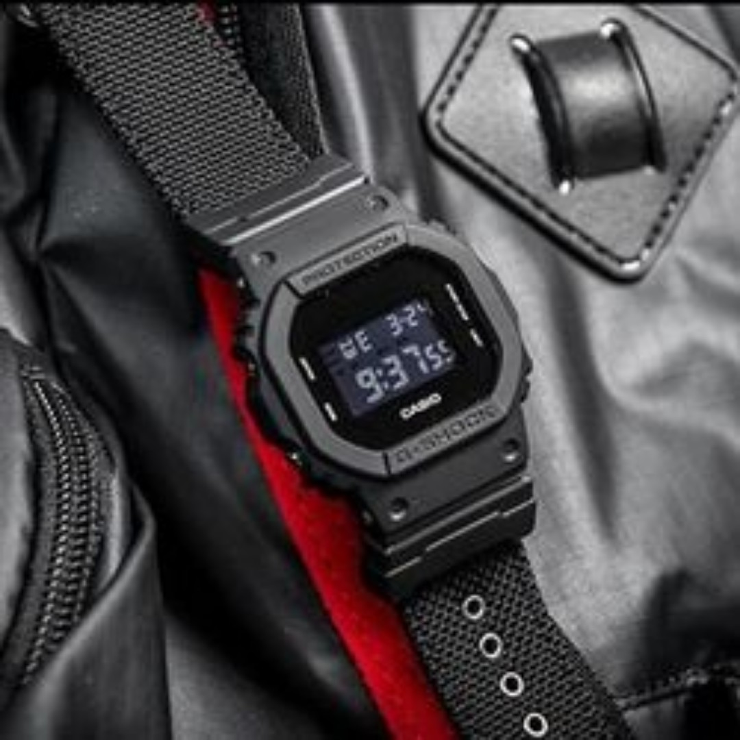 Special Promotion Casio Dw5600bbn Black Out Nato Series Cordura Strap Gshock Free Delivery Unisex Square Dw5600 G Shock