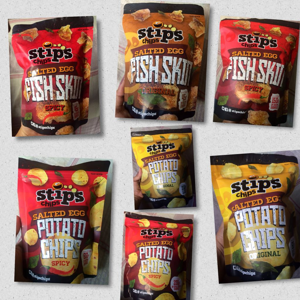 Stip's Chips Salted Egg Potato Chips and Fish Skin