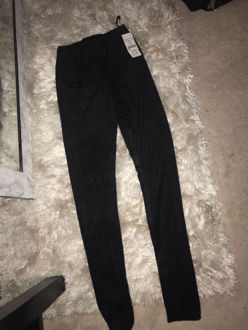 Suede high waist leggings from M size xs