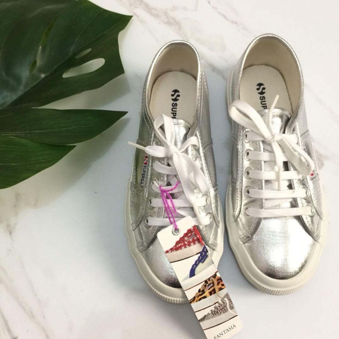 SUPERGA GREY SILVER COTU KEDS Fesyen Wanita Sepatu Di Carousell
