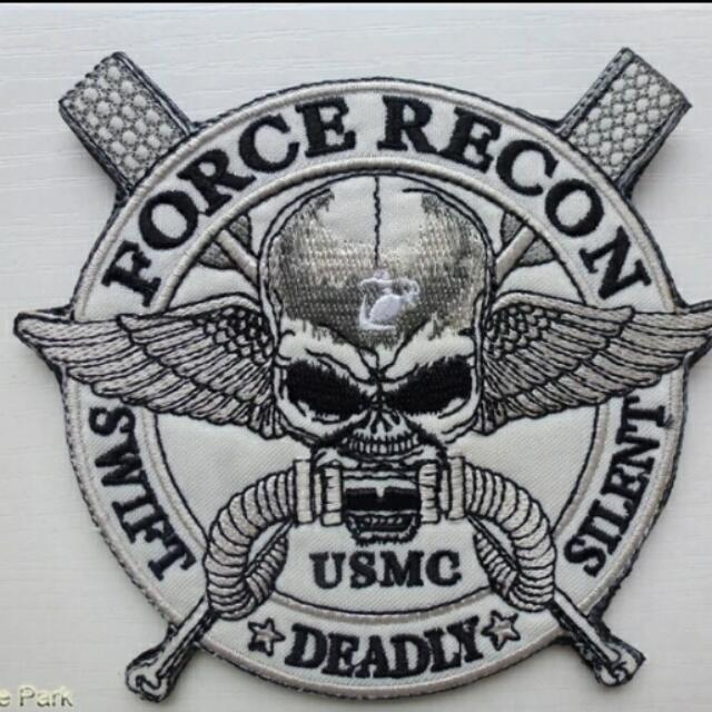 Us Marine Corp Special Forces Force Recon Swift Silent Deadly Large