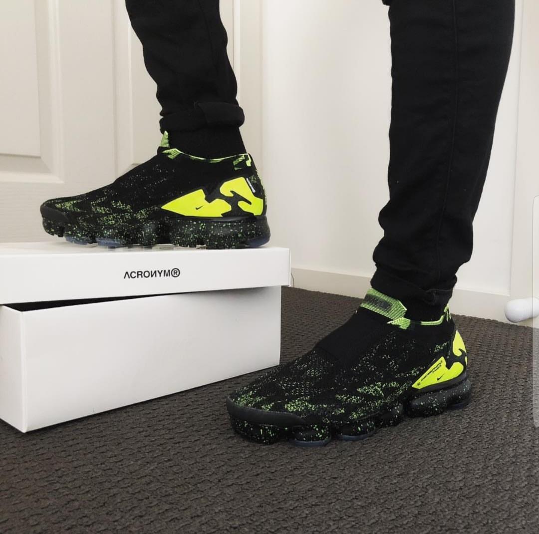 new concept 2e9cc aeae3 Nike Air Vapormax x ACRONYM Black Volt, Men's Fashion ...