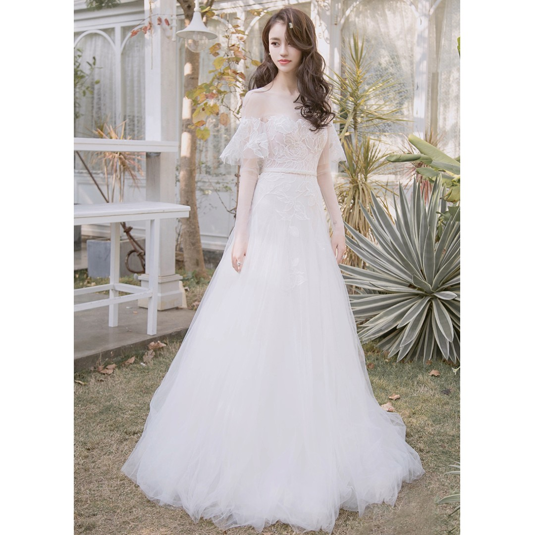 Wedding Collection - Unique Transparent Long Special Design Sleeves ...