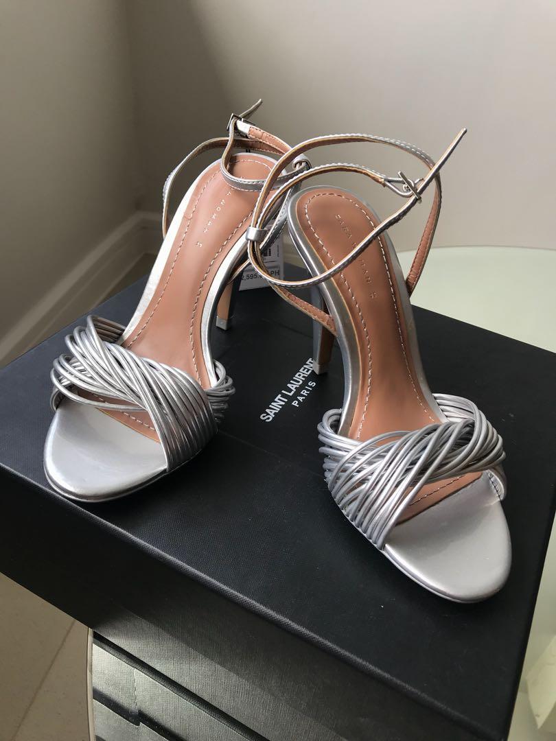 4310375fd98 Zara silver strap heels