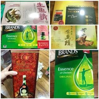 brands chicken essence, fish essence, dom