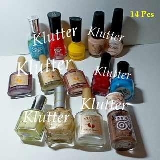 Klutter ~ Used 14 Pcs Nail Polishes Bundle