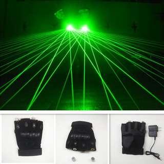 Green hand laser Gloves DJ Club Show
